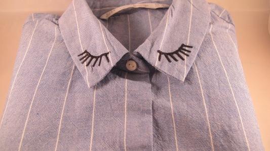 Zara striped eyelash shirt