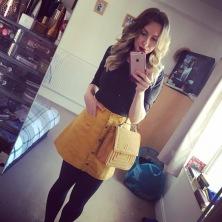 ASOS - Monki Yellow Skirt